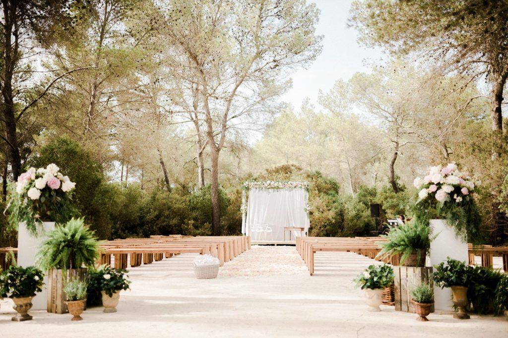 a Na Xica Eventos - Detalle Ceremonia Bosque